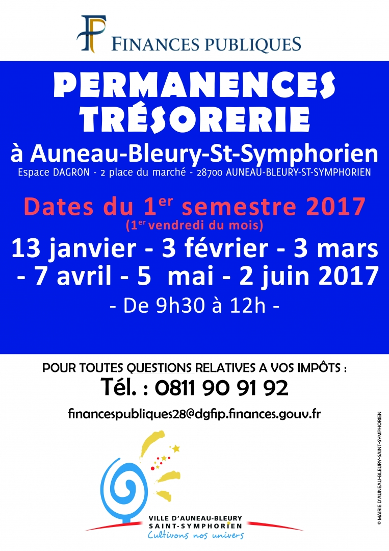 Permanence tresorerie auneau for 28700 auneau