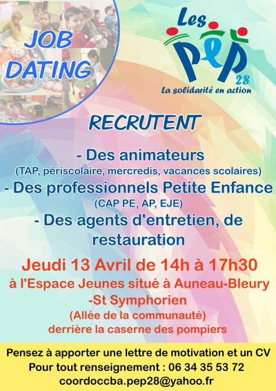 job dating auneau - recherche emploi eure-et-loir